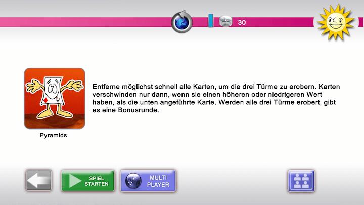 Ein beliebtes Spiel ist Pyramids - Spielen auf dem Smartphone mit der Merkur eCup App